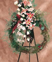 withStargazer Lilies